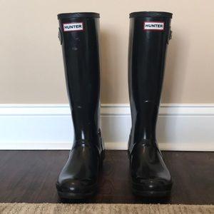 Hunter Boots Original Gloss Tall, Size 7
